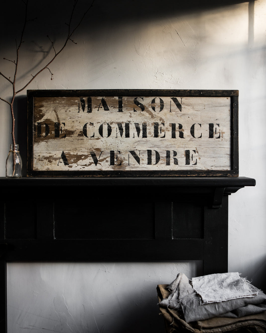 Rustic French wooden sign