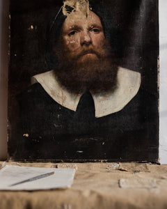 Antique painting of old man