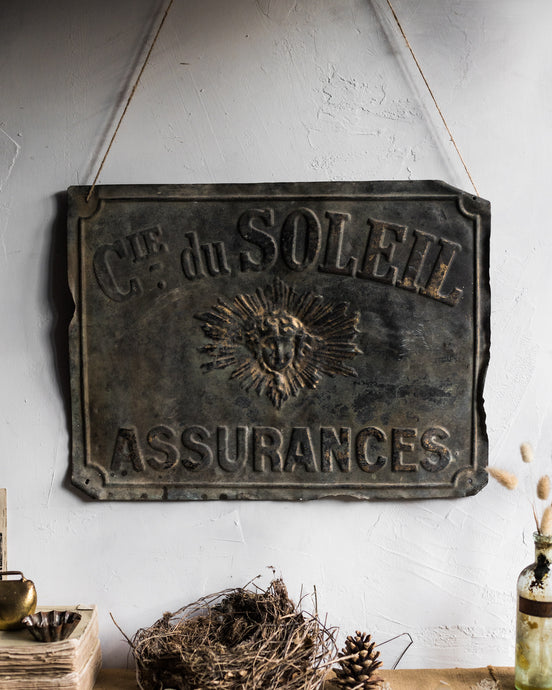 Rustic French metal sign