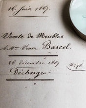 Load image into Gallery viewer, Antique French document '16. Juin 1868'