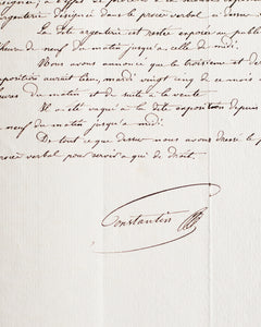 Antique French document '22 Juin 1867'