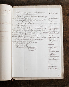 Antique French document '20 Juin 1867'
