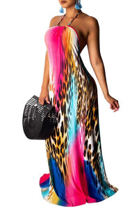 Multi Colored Animal Print Maxi- OS