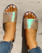 Load image into Gallery viewer, Transparent Open Toe Flat Sandals
