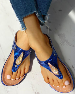 Blue Sleek Sandals-BW