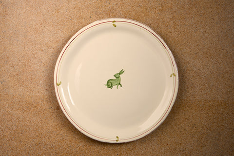 Green Rabbit Dinner Plate