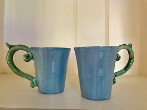 Blue/Green Espresso Cups