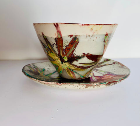 Florentine Espresso Mini bowl and Saucer