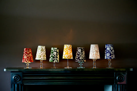 Block Printed Tealight Shades