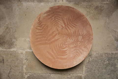 Leaf Imprint Terracotta Platter - Fern
