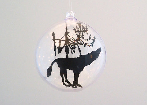 Wolf and Chandelier Bauble