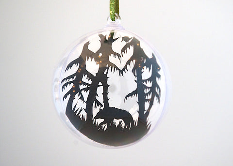 Wolf in the Woods Bauble