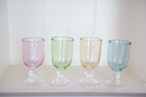 Pastel-coloured Wine Glasses
