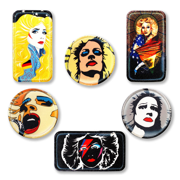 Set of Six Hedwig Iron-On Patches