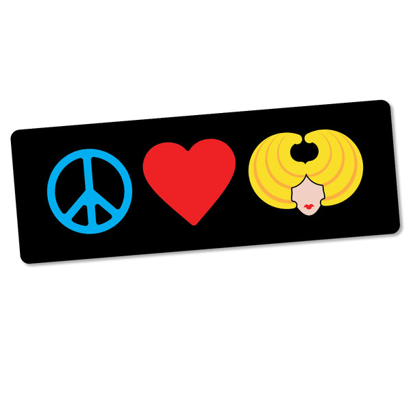 Peace Love & Hedwig Bumper Sticker