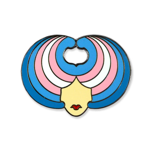 Wig Head — Trans Pride Limited Edition Pin
