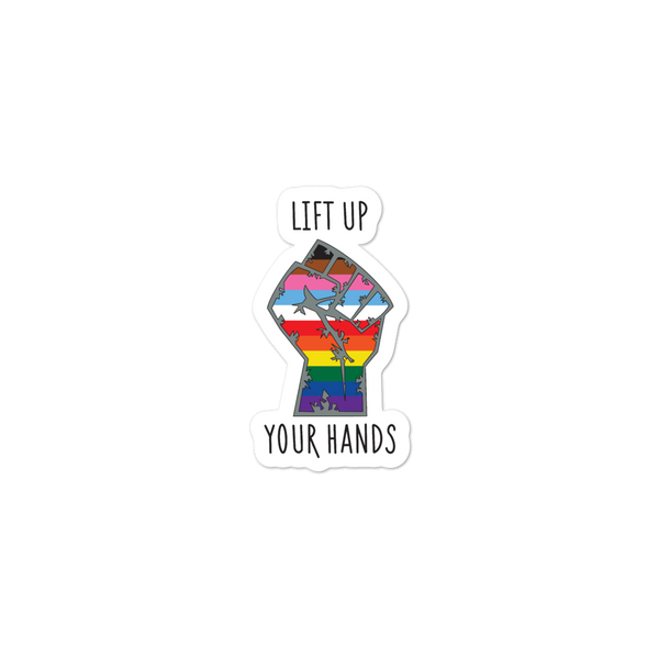 Lift Up Your Hands Sticker