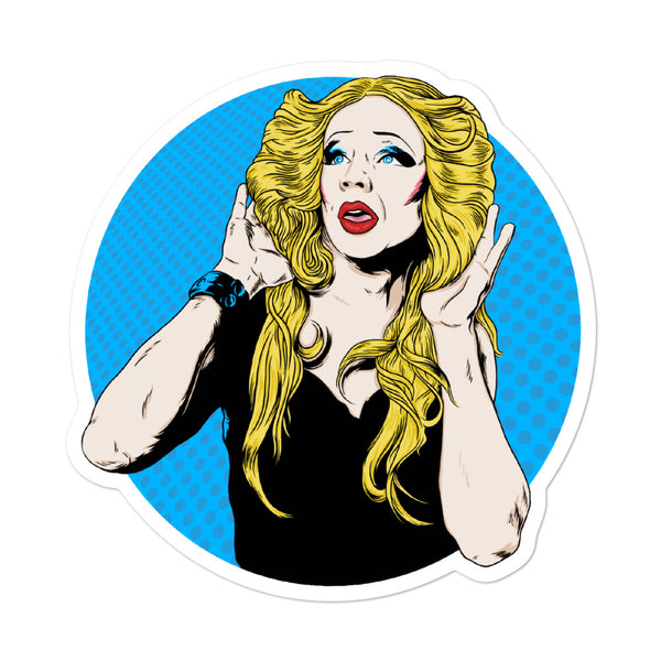 Blue Hedwig Portrait Sticker