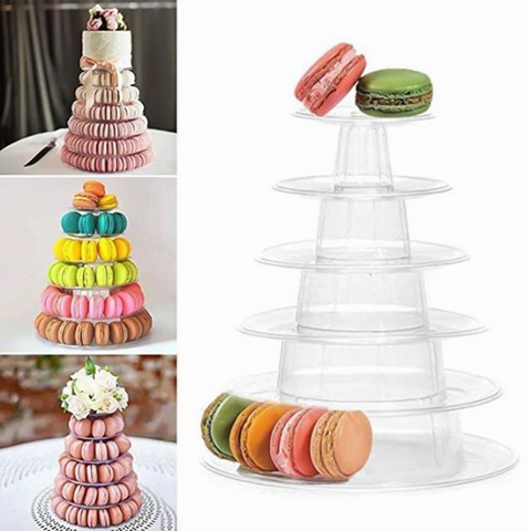 4/6 TIER MACAROON CUPCAKE TOWER  STAND