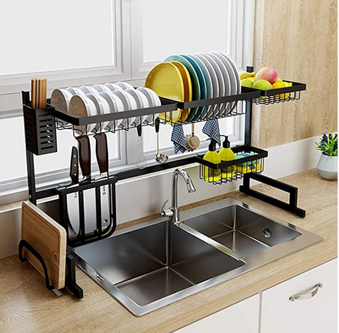 Dish Sink Drain Rack-Stainless Steel