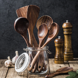 Wooden Kitchen Utensil Set