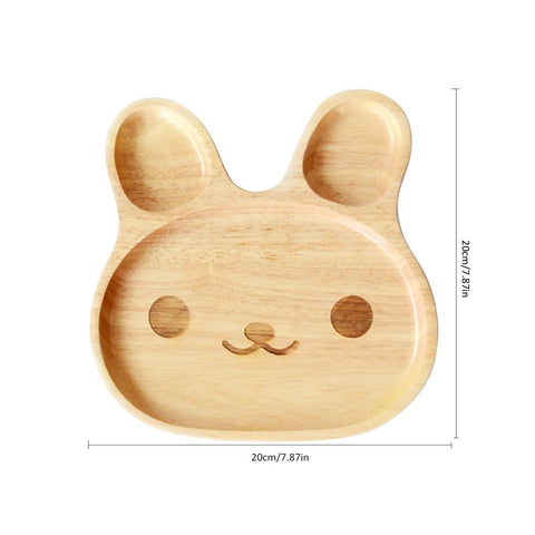 Wooden Babay Plate (Rabbit Shape)