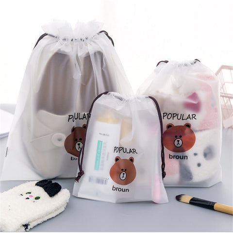 Transparent Cosmetic Bag 3Pcs