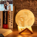 Personalized 3d Photo Moon Lamp