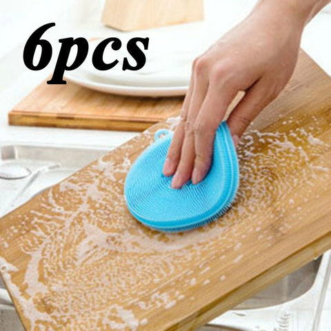 Magic Silicone Cleaning Sponge-6Pcs