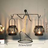Abstract Metal Candle Holder