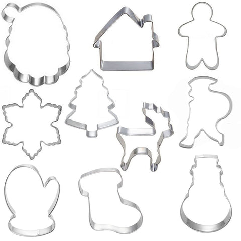 CHRISTMAS  COOKIE CUTTERS 10PCS