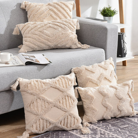 TASSELS BOHO CUSHION COVERS