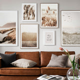 REED GRASS SCANDINAVIAN POSTER