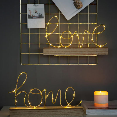 LOVE & HOME LED SIGN