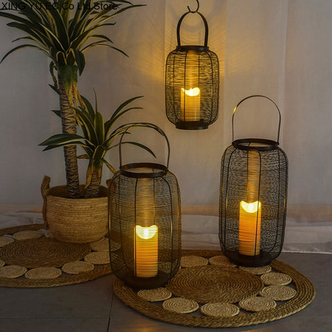 LARGE FLOOR CANDLE LANTERNS