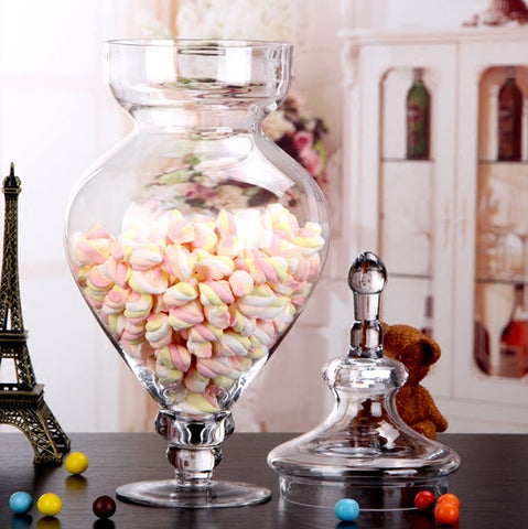 Apothecary Glass Candy Jar| Decorative Household Glass Storage