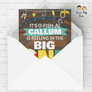Reeling In The Big One Birthday Invitation