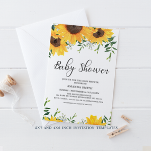 Sunflowers Baby Shower Invitation