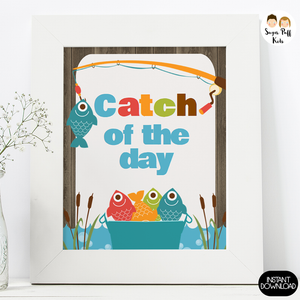 Fishing Themed Birthday Party Signs