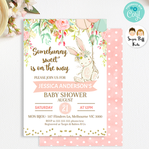 Some Bunny Baby Shower Invitation