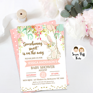 Some Bunny Baby Shower Invitation, thank you card and inserts