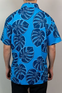Blue Monstera Polo