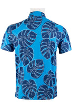 Load image into Gallery viewer, Blue Monstera Polo