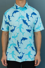 Load image into Gallery viewer, Blue Shark Polo