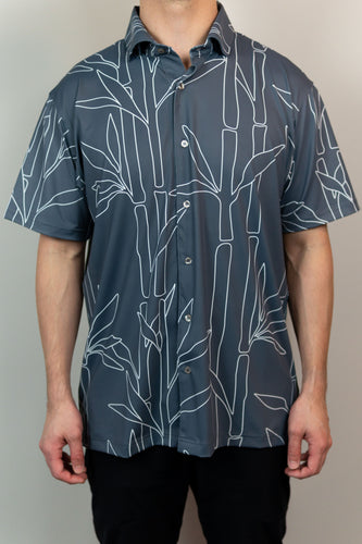 Gray Bamboo Button Down