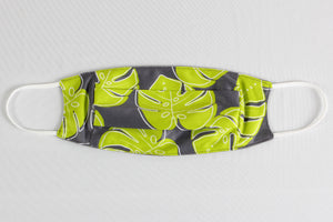 Lime Monstera Face Mask (ADULT SIZE ONLY)