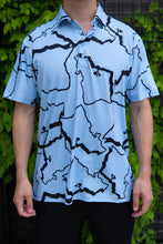 Load image into Gallery viewer, Periwinkle Black O'ahu Polo (Front)