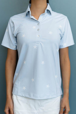 Periwinkle Star Polo