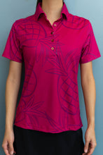 Load image into Gallery viewer, Wine Pineapple Polo (Front)