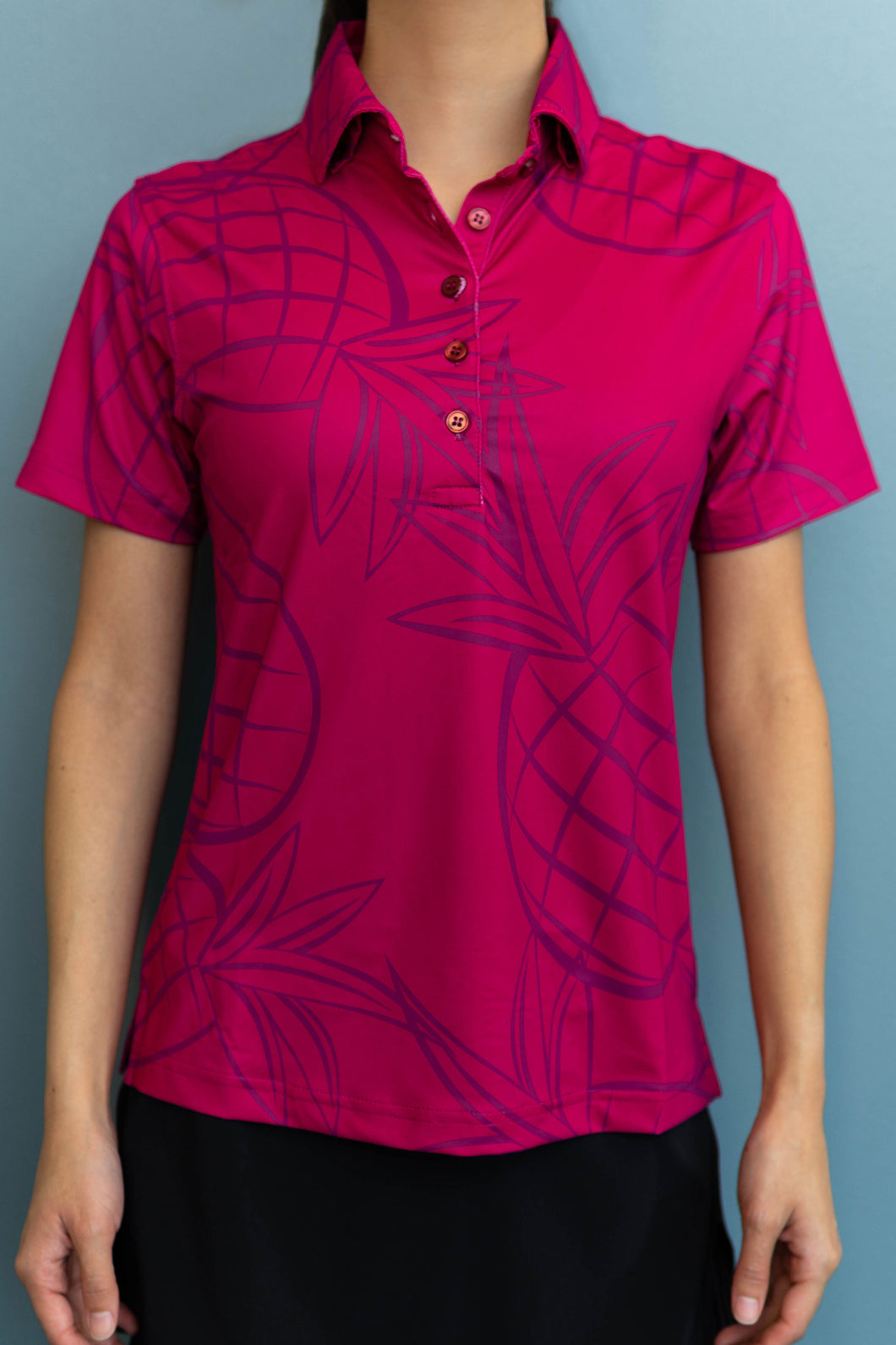 Wine Pineapple Polo (Front)